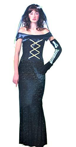 LBA Disfraz de Novia Vamprica. Talla nica de mujer. Incluye vestido, tocado y guante.