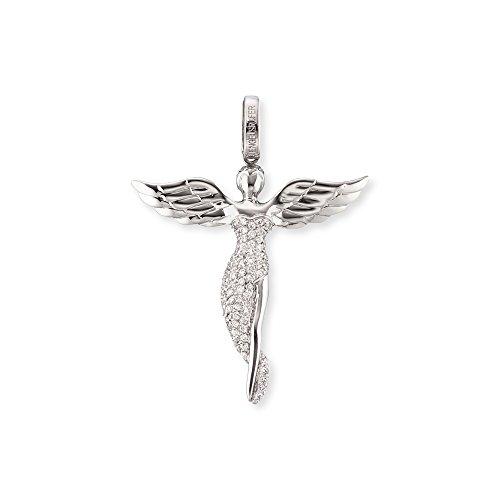 Engelsrufer Engel Anhänger für Damen 925er-Sterlingsilber Weiße Zirkonia Größe 26 mm