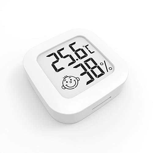 Houdian Mini Igrometro Termometro Digitale, Termometro Ambiente con Livello di Comfort, Monitor di Temperatura e umidità, Termometro da Interno per Serra, Stanza, Casa