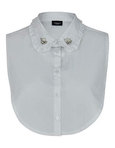 Bexleys Woman by Adler Mode Damen Modischer Blusenkragen weiß 2 Einheitsgrösse