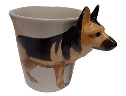 Unbekannt Schäferhund 3D - Taza con diseño de Perro Pastor