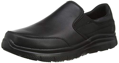 Skechers Herren Flex Advantage Sr Slip On Sneaker, Schwarz (Black Blk), 47.5 EU