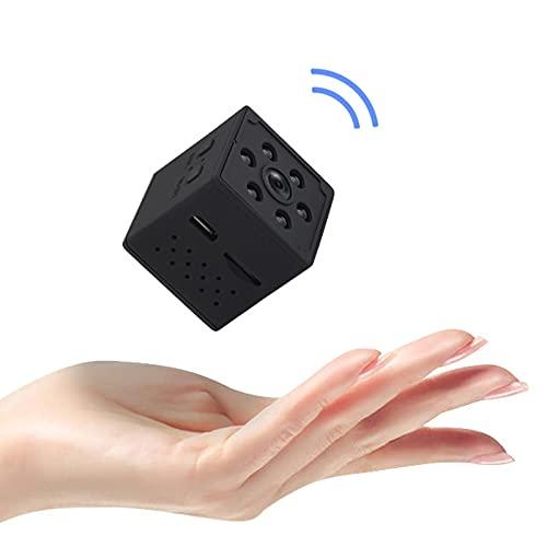 Cámara Web de 4K HD, Mini cámara, pequeña cámara WiFi Niñera con aplicación de teléfono Visión Nocturna Detección de Movimiento Cámara Inteligente portátil para Interiores/de Inicio/apartamento /