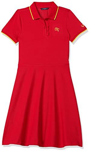 Allen Solly Junior Polycotton A-Line Dress (AGDRCRGFH76494_Red_12)