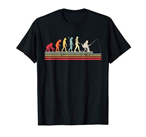 Papá Pescador Evolución del Hombre Vintage Retro Hombre Rega Camiseta