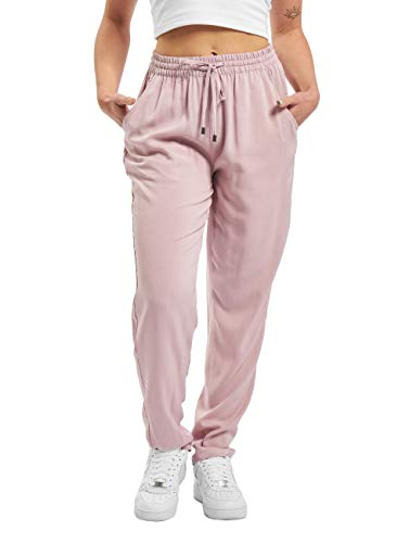Sublevel Damen Sommer Stoff-Hose mit Gummibund & Kordelzug Light-Rose M