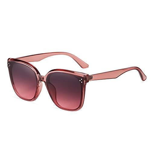 APCHY 2021 Nuevas Gafas De Sol De Gran Tamaño para Hombres Y Mujeres Decoración De Lentes De Nailon De Moda Vintage Protección Ultraligera UV400 para Conducir Viajes,Rosado