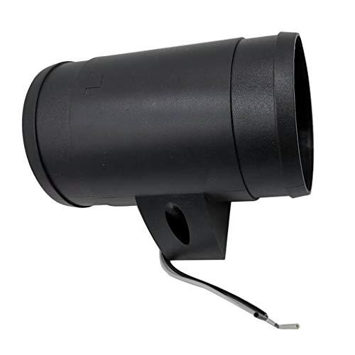 Baoblaze Ventilador de Escape de Ventilación de Aire de Barco Marino Práctico, DC 12V, 24A (negro)