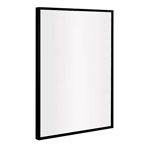 ANDY STAR Bathroom Mirror, Clean Large Modern Black Frame Wall Mirror | -