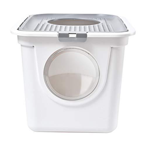 Huisdier 10KG Kat Hoeklade Mooie Grote Milieuvriendelijke Dubbele Deur Top Entry Kitty Hooded Filter Ingesloten Gemakkelijk te reinigen Kitten Toilet