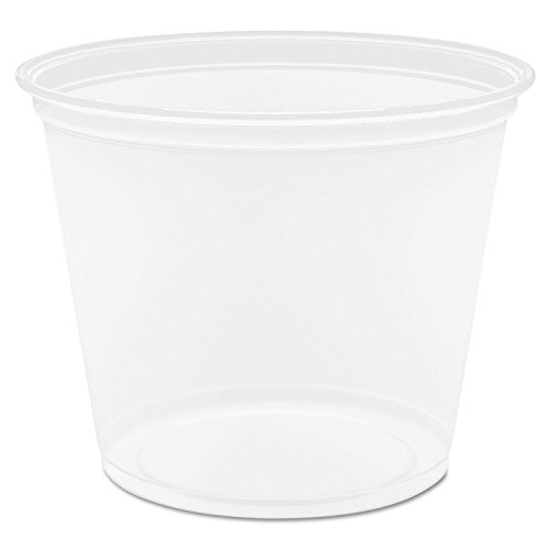 "DART 550 Piece 2.9"" Top and 2.1"" Bottom Diameter, Clear Conex Complements Plastic Portion Cup, 5.5 oz."