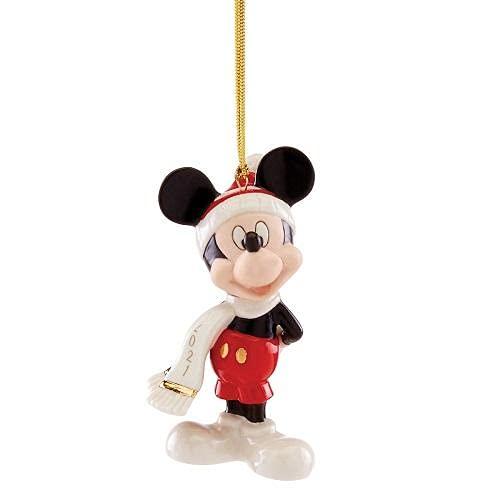 Lenox 2021 Mickey Mouse Winter Ornament, 0.40, Blue