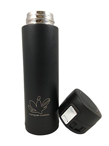 mymagnolia Design Isolierflasche   450 ml Edelstahl   Travel Mug mit Sport Verschluss   BPA-frei   Auslaufsicher