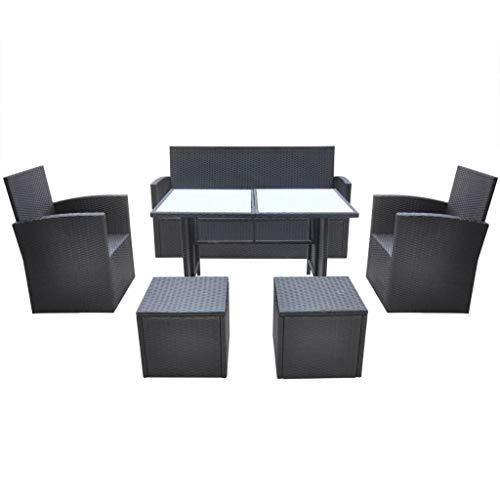 vidaXL Gartenmöbel 18-TLG. Poly Rattan Sitzgarnitur Sitzgruppe Gartengarnitur - 4