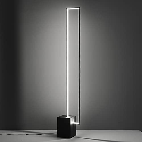 Nordic Minimalist LED Lampara Pie Tricolor Lámpara Control Remoto Decoración con Botón De Interruptor Lámpara De Pie para La Sala De Estar Dormitorio De La Oficina Lectura