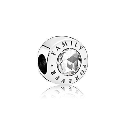 MiniJewelry - Abalorio de plata de ley para pulseras, diseño de familia para mujer