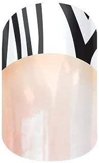 Jamberry Nail Wraps - Zebra Tip (Mid) - Full Sheet - Zebra French Manicure