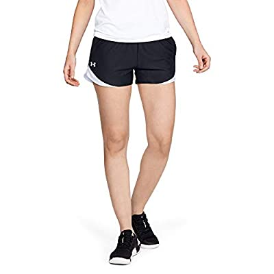 Under Armour Women's Play Up 3.0 Shorts , Black (002)/White , Large