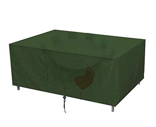 130x130x90cm Copertura Tavolo Giardino Impermeabile Antivento Telo Protettivo per Tavolo,Copertura di protezione per mobili da giardino,210D Telo Oxford,verde