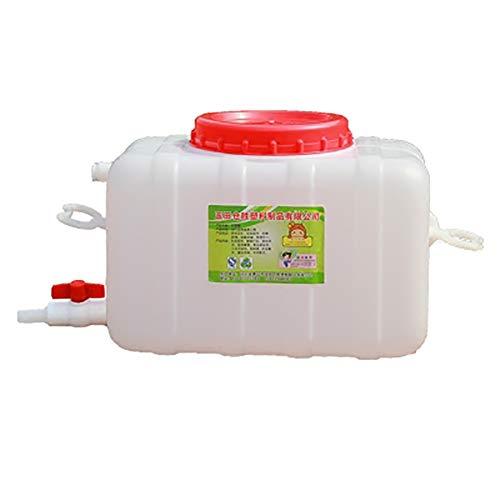 MAGFYLY Plástico agua recipiente hogar agua gota resistencia tanque de almacenamiento con grado alimenticio barril rectangular cubo plástico hogar cubo niño