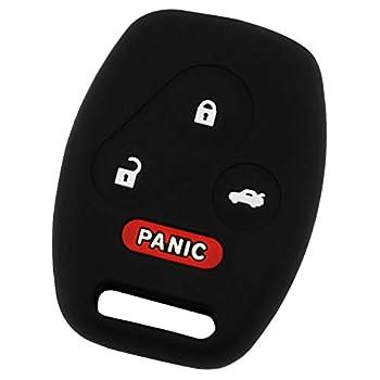 KeyGuardz Keyless Entry Remote Car Key Fob Outer Shell Cover Soft Rubber Case for Honda Accord Civic CR-V Fit Odyssey Pilot