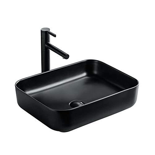 QuRong Schip zinken badkamer mat zwarte keramische wasbak Gilt voor hotel toiletten voor thuis Hotel