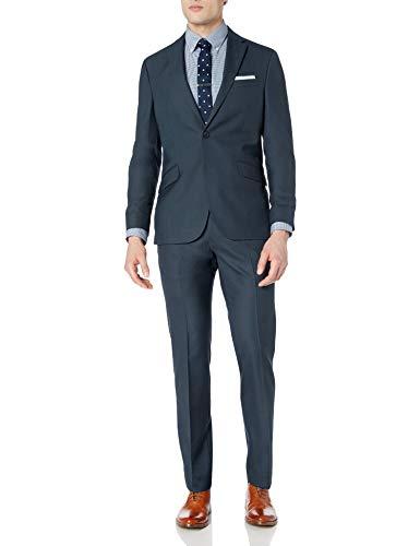Kenneth Cole Unlisted Men's Slim Fit Suit, Medium Blue, 42R