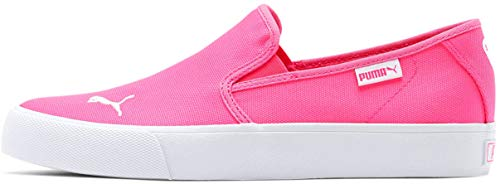 Puma - Womens Bari Slip On Cat Shoes, Size: 9 B(M) US, Color: Fluo Pink/Puma White