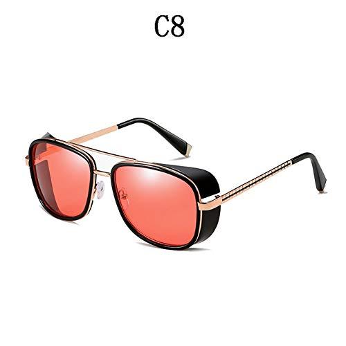 CCGSDJ Gafas De Sol De Hombre Gafas De Marca De Lujo para Hombre Espejo Punk Gafas De Sol Gafas De Sol…