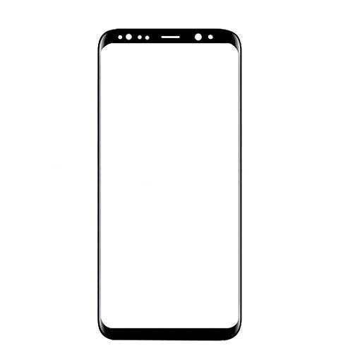 ixuan voor Samsung Galaxy S8 G950 G950F Front Buitenste Glas Lens (Geen Digitizer Geen LCD-scherm) Vervangende Reparatie Deel (Zwart)