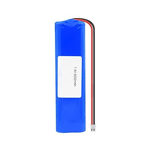RitzyRose Batería de iones de litio de 7,4 V, 6000 mAh, 18650, paquete de baterías con enchufe XH de 2,54 mm para linterna para aspiradora