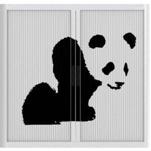 easyOffice Rollladenschrank BxTxH 86x37,5x104cm Panda