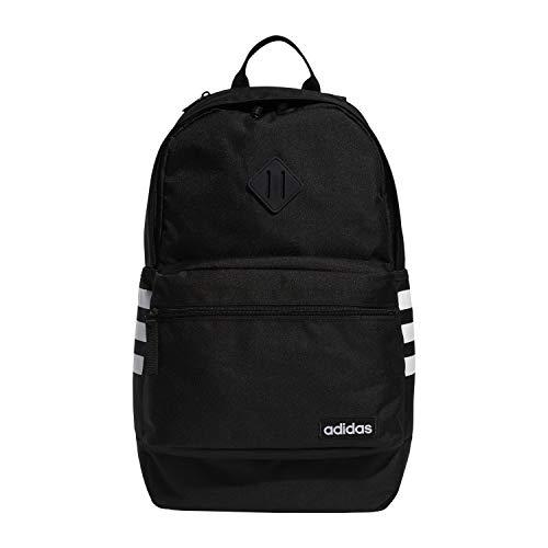 adidas Unisex Classic 3S III backpack, Black/White V3, One Size