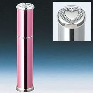 【ヤマダアトマイザー】メタルアトマイザー メタルポンプ 29025 15mm径 ピンク ラインストーンハート 3.5ml