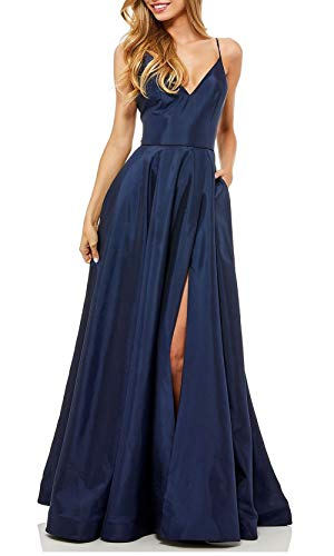 Aox Women Vintage Bandeau de cintura alta satén Rhinestone Swing largo noche vestido de fiesta falda