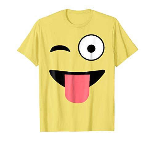 Halloween Costume Shirts Emoji Face Wink Eye Tongue T-Shirt