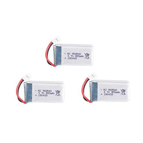 MeGgyc Batteria Lipo 3.7V 800mAh 902540 per X5 X5C X5C-1 X5S X5SW X5SC V931 H5C CX-30 CX-30W RC Quadcopter Drone Ricambi White