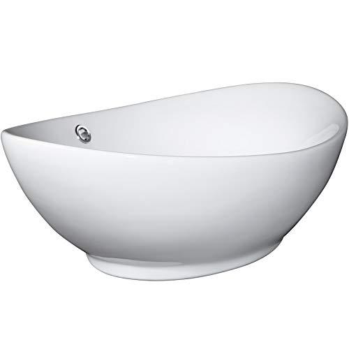TecTake Ceramica lavabo in trattato lavamani angolare lavello rettangolare bagno sospeso | -modelli...