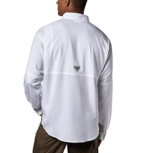 Columbia Men's Plus Tamiami II Long Sleeve Shirt, White - Medium