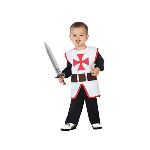 Atosa-57013 Disfraz Caballero Cruzadas, Color Blanco, 12 a 24 Meses (57013)