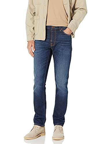 NUDIE JEANS Lean Dean Slim Tapered Fit Jeans 36S Dark Deep Worn