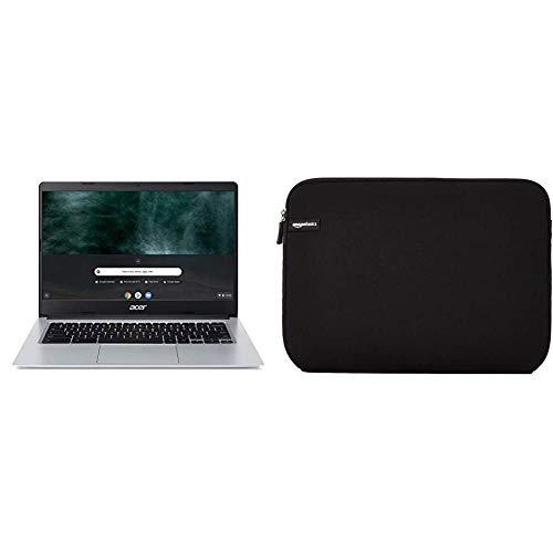 """Acer Chromebook CB314-1H-P9X6 Ordinateur Portable 14"""" HD Gris (Intel Pentium, 8 Go de RAM, 64 Go eMMC, Intel HD Graphics 600, OS Chrome) & Amazon Basics Housse pour Ordinateur Portable 35,6 cm (14"""")"""