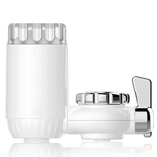 KEPEAK Purificador de Agua para Grifo de Cocina, Filtro con 7 Salida Adaptadores, Sistema de Filtración Absorbente, Elimina Sedimentos/Coloides, Filtro Antioxidante&Reemplazable