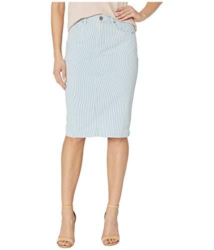 FDJ French Dressing Women s Stripe Denim Skirt Chambray