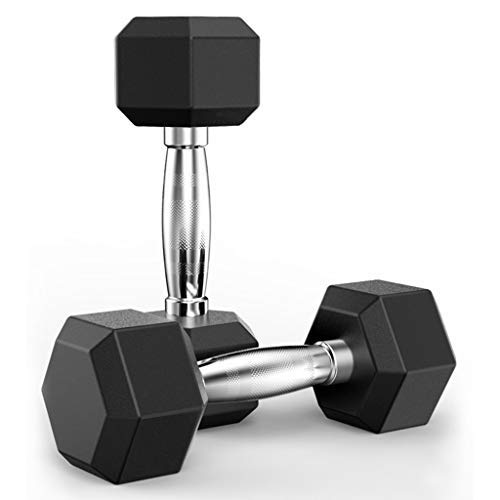 Dumbbells,Rubber Hex Dumbbells, Exercise at Home Best Choice for Muscle Exercise,Heavy Dumbbell Set for Muscle Training,Choose Weight (5/10/20/30/50lbs) (Shipping from U.S.) (2PC * 10 LBS)