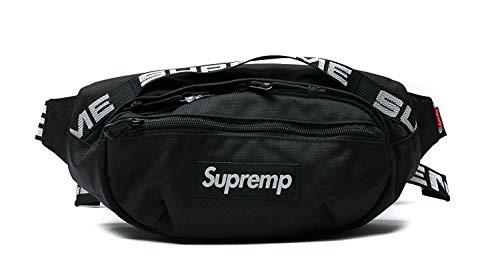 Supremp Gürteltasche, verstellbar, einzelner Schulterriemen, Supremes, Bauchtasche für Wandern zufällig Fahrrad Rucksack schwarz