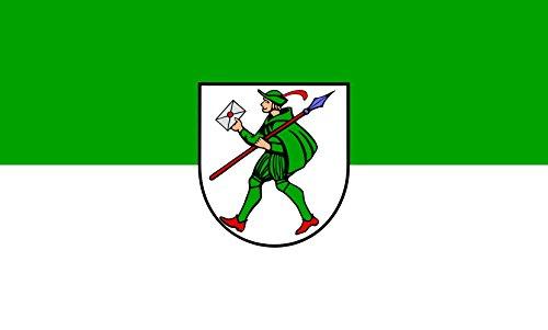 Unbekannt magFlags Tisch-Fahne/Tisch-Flagge: Lauffen am Neckar 15x25cm inkl. Tisch-Ständer