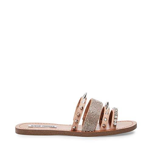 Price comparison product image Steve Madden Women's Lindy Flat Sandal,  Natural Multi,  6.5 M US