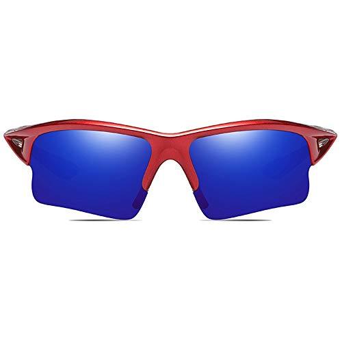 LCSD Gafas de Sol Ciclismo Deportivo Al Aire Libre Material for PC Gafas De Sol Marco Rojo Amarillo Verde/Azul Oscuro Lentes Hombres Y Mujeres con Las Mismas Gafas De Sol Polarizadas Antirreflejos