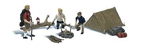 Spur HO -- Camper mit Zelt und Feuerstelle